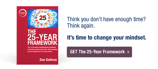It's time to change your mindset. Order The 25-Year Framework today!