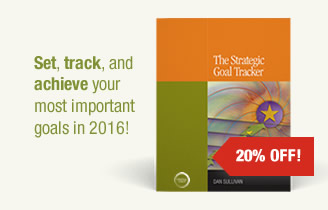 The Strategic Goal Tracker. Set, track, and achieve your most important goals in 2016!