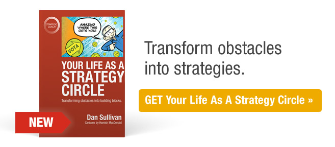 Transform obstacles into strategies. Get Your Life As A Strategy Circle.